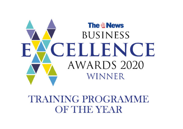 Portsmouth News Business Excellence Awards logo 2020 Winner Training Programme